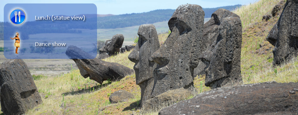 Easter Island cruise ship tour banner