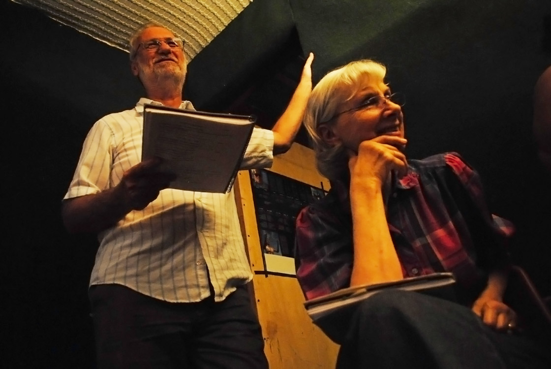 Robert and Nancy Weber dubbing movie into Rapa Nui