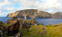 View of Rapa Nui from Motu Nui, Easter Island