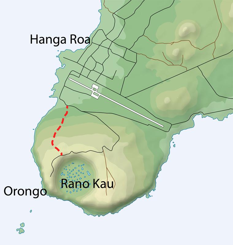 Easter Island Hiking - Easter island map