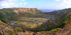 Crater of Rano Kau volcano